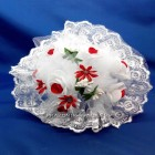 Букет-дублер №26 белый с красными бутончиками